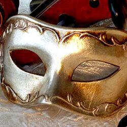 Silver Venetian Mask for Men