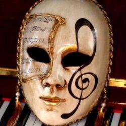 Treble Clef Decor Mask