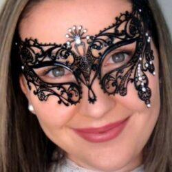 Black Mask with Swarovski Crystals