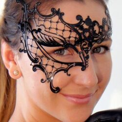Ladies Filigree Phantom Mask