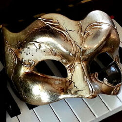 Silver Music Large Mans Mask