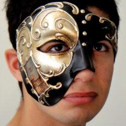 Venetian Phantom of the Opera Mask Silver with Black