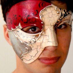 Vivaldi Phantom Mask Silver Made in Italy