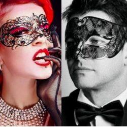 Couples Metal Filigree Masks