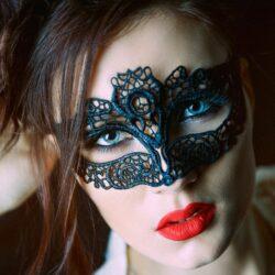 Black Lace Masquerade Mask Emily