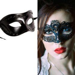 Black Masquerade Mask Set