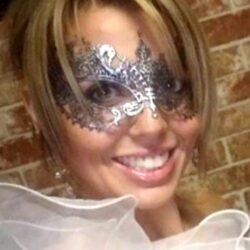 50 Shades Silver Lace Mask