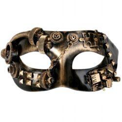 Steampunk Costume Mask Gold